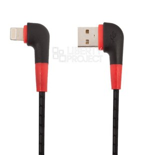 Кабель USB - Lightning для Apple iPhone, iPad (Кожаный шнурок) (0L-00040645) (черный) - КабелиUSB-, HDMI-кабели, переходники<br>Предназначен для зарядки и передачи данных между цифровыми устройствами.