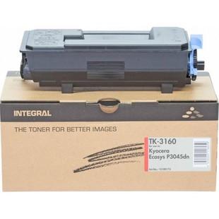 Картридж для Kyocera ECOSYS P3045, P3050, P3055 (Integral TK-3160) (черный, с чипом) - Картридж для принтера, МФУКартриджи<br>Совместим с моделями: Kyocera ECOSYS P3045, P3050, P3055