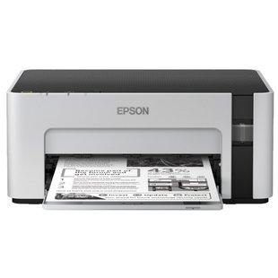Принтер Epson M1100 - Принтер, МФУПринтеры и МФУ<br>Принтер Epson M1100 - принтер, A4, печать  пьезоэлектрическая струйная черно-белая, 32 стр/мин ч/б, 15 изобр./мин ч/б, 1440x720 dpi, подача: 150 лист., вывод: 30 лист., USB