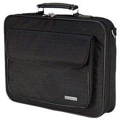 Continent CC-03 (черный) - Сумка для ноутбукаСумки и чехлы<br>Сумка для ноутбука Continent CC-03 выполнена в приятном бежевом цвете и предназначена для устройств с диагональю дисплея не больше 16 дюймов. Аксессуар обладает дополнительными карманами для зарядного устройства ноутбука, органайзера и имеет ремешок через плечо.