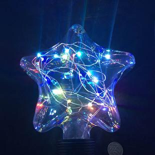 Светодиодная лампа звезда (Espada E-E27FS63FC) - ЛампочкаЛампочки<br>Светодиодная (LED) лампа звезда разноцветная, Е27, 3W.