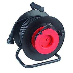 Удлинитель силовой 1 розетка 40м (ЭРА RP-1-2x0.75-40m) (черный) - Сетевой фильтрУдлинители и сетевые фильтры<br>Удлинитель силовой RP-1-2x0.75-40m без заземления, 1 гнездо, 2х0.75мм, пластиковая катушка.