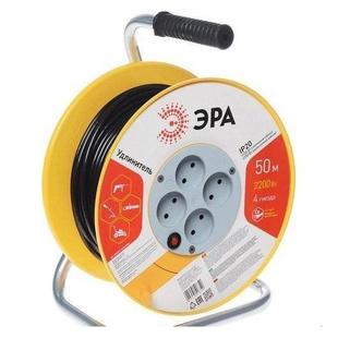 Удлинитель силовой 4 розетки 50м (ЭРА RP-4-3x1-50m) (черный) - Сетевой фильтр
