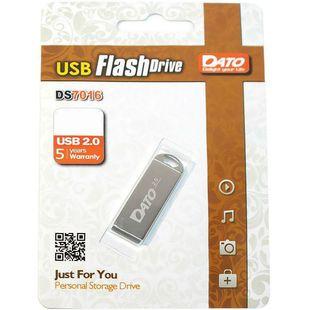 Dato DS7016 64Gb (серебристый) - USB Flash driveUSB Flash drive<br>Флэш-накопитель, объем 64Гб, тип USB 2.0, материал: металл.