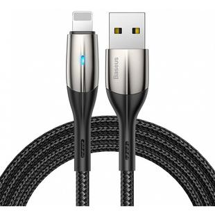 Кабель USB - Lightning для Apple iPhone, iPad (Baseus Horizontal Data Cable CALSP-C01) (черный) - КабелиUSB-, HDMI-кабели, переходники<br>Baseus Horizontal Data Cable - это прочный и надежный кабель с разъемом Lightning, который предназначен для зарядки портативных устройств Apple, а также передачи данных. Для подключения к СЗУ или другому источнику питания используется интерфейс USB.