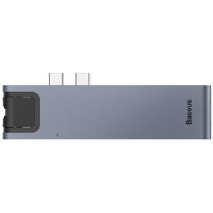Baseus Thunderbolt C+Pro (CAHUB-L0G) - USB HUBUSB-концентраторы<br>Baseus Thunderbolt C+Pro CAHUB-L0G — это компактный USB-хаб с широким набором интерфейсов. Он совместим с MacBook Pro 2016 и 2017 года выпуска, которые имеют разъемы USB Type C. Концентратор позволяет в значительной мере увеличить коммуникационные возможности ноутбука от Apple, не занимая при этом места на рабочем столе.