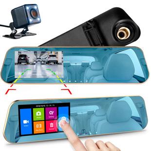 Зеркало видеорегистратор 2-в-1 с камерой заднего вида и сенсорным паркинг-монитором, ночная оптика F2.0 / 2 камеры / Тач экран / Full HD 1080P / G-Sensor / WDR / HDR / (N3 Touch VSDX) - Автомобильный видеорегистратор