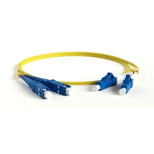 Патч-корд волоконно-оптический SM 9/125 (OS2), LC/UPC-SC/UPC, 3м (Hyperline FC-D2-9-LC/UR-SC/UR-H-3M-LSZH-YL) (желтый) - КабельСетевые аксессуары<br>Патч-корд волоконно-оптический, тип LC-SC, duplex, LSZH, длина 3м.