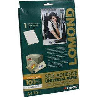 Универсальные этикетки Lomond А4 (2133005) (желтый) - Универсальная этикетка А4Универсальные этикетки А4<br>Самоклеящаяся бумага для лазерной печати желтая, 54 деления, круглые, радиус 30мм.