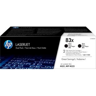 Картридж для HP LaserJet Pro M225, M201 (CF283XD) (черный) (2 шт) - Картридж для принтера, МФУКартриджи<br>Совместим с моделями: HP LaserJet Pro M225, M201
