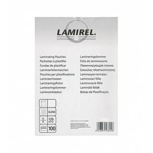 Пленка для ламинирования 125 мкм, 83x125мм (Lamirel LA-7876701) (100 шт) - Пленка глянцеваяПленка глянцевая<br>Пленка для ламинирования Lamirel, 83x113мм, 125мкм, 100 шт.