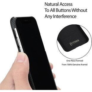 Чехол накладка для Apple iPhone Xs (Pitaka Aramid Case Plain KI8002XS) (черный, серый) - Чехол для телефонаЧехлы для мобильных телефонов<br>Pitaka Aramid Case — это ультрапрочный защитный чехол-накладка для iPhone XS. Выполненный на 100% из арамидного волокна аксессуар обеспечивает такой же уровень защиты для смартфона, как бронежилет или болид Формулы 1 для человека. Уникальная ультратонкая конструкция, выполненная по технологии вакуумной формовки, гарантирует идеальное прилегание к корпусу телефона. Встроенные металлические пластины не препятствуют беспроводной зарядке.