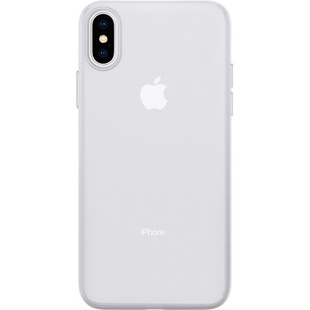 Чехол накладка для Apple iPhone Xs (Spigen Air Skin 063CS24909) (прозрачный) - Чехол для телефонаЧехлы для мобильных телефонов<br>Spigen Air Skin является самым тонким представителем накладок на заднюю часть iPhone Xs среди произведенных Spigen. К тому же, этот чехол еще и очень прочный. Имея толщину всего 0.35 миллиметра, данная накладка обеспечивает высококлассную защиту корпуса смартфона, идеально повторяя его обтекаемую форму. Аксессуар позволяет пользоваться коммуникатором в полном объеме, не ограничивая доступ к портам и интерфейсам.