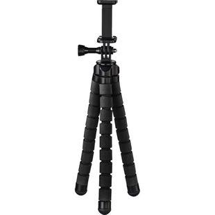 Штатив Hama Flex (00183391) (черный) - Штатив, моноподШтативы и моноподы для фото- и видеокамер<br>Штатив Hama Flex с гибкими ножками, которые могут изгибаться до 360 градусов, что обеспечивает оптимальное и надежное крепление к различным объектам, например, перилам, ветвям.