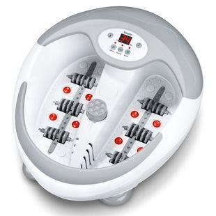 Ванночка Beurer FB50 - МассажерДругие массажеры<br>Расслабляющие инфракрасные световые точки. Поддержание приятной равномерной температуры воды на 5 ступенях (в диапазоне 35 - 48 C). Встроенный магнит для терапии магнитным полем. Съемные роликовые насадки для массажа рефлекторных зон ног. Простое и удобное управление с помощью СД дисплея.