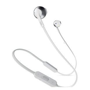 JBL JBLT205BT (серебристый) - НаушникиНаушники и Bluetooth-гарнитуры<br>Bluetooth-наушники с микрофоном, вкладыши, 32 Ом, 100 дБ, вес 16.50 г, время работы 6 ч, поддержка Bluetooth 4.0.
