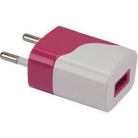 Универсальное сетевое зарядное устройство, адаптер 1хUSB, 1А (Continent ZN10-194RD) (красный, белый) - Сетевой адаптер 220v - USB, ПрикуривательСетевые адаптеры 220v - USB, Прикуриватель<br>Универсальное сетевое зарядное устройство, адаптер 1хUSB, 1А.