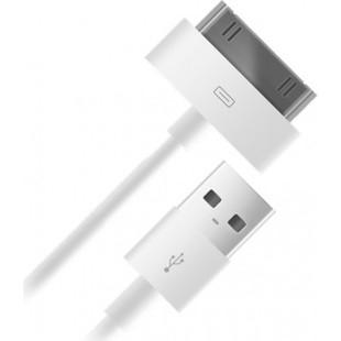 Кабель USB - 30 pin для Apple iPhone 3GS, 4, 4S, iPad, iPad 2, iPad 3 new, iPod Nano 6, Touch 4 ( BB 004-001) (белый) - Кабели Лиман компьютерные аксессуары