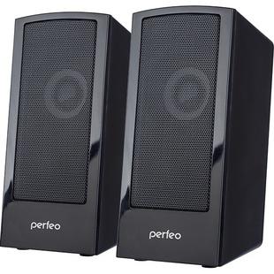 Perfeo CALIBR (черные) - Колонка для компьютераКомпьютерная акустика<br>Колонки, 2.0, мощность 2х3 Вт, чёрные, USB.