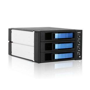 Procase A3-203-SATA3-BL (сине-черный) - Корпус, док-станция для жесткого дискаКорпуса и док-станции для жестких дисков<br>Корзина на 3 отсека для 3.5quot; накопителей, интерфейс внутренний/внешний SAS/SATA, 1х 80мм вентилятор, разъемы Molex-4pin (2), SATA-15pin (2).