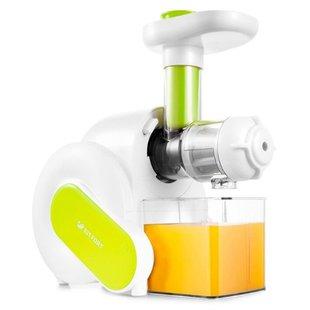 Соковыжималка Kitfort KT-1110-1 (белый/зеленый) - Соковыжималка электрическаяСоковыжималки<br>Соковыжималка Kitfort KT-1110 - горизонтальная шнековая соковыжималка, 150 Вт, сбор мякоти.
