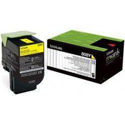 Картридж для Lexmark CX510 (Lexmark 80C8XYE) (желтый)  - Картридж для принтера, МФУКартриджи<br>Совместим с моделью: Lexmark CX510