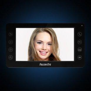 Falcon Eye FE-70CH ORION (черный) - ВидеодомофонВидеодомофоны<br>Дисплей7quot; TFT, разрешение дисплея 800x480, кнопки управления: сенсорные, меню интерфейса: графическое, формат сигнала: PAL/NTSC, кол-во вызывных панелей: 2, кол-во видео камер: 2.