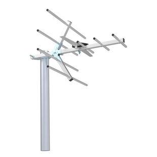 Hyundai H-TAE220 (серебристый) - ТВ антенна, усилитель ТВ сигнала, антенна для дачиАнтенны<br>Уличная TB-антенна, без усилителя, прием UHF, прием DVB-T/DVB-T2, усиление сигнала UHF 15 дБ.