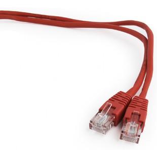 Патч-корд RJ45-RJ45 UTP cat5e 2м (Cablexpert PP12-2M/R) (красный) - КабельСетевые аксессуары<br>Патч-корд, RJ45-RJ45, UTP, категория 5е, длина 2м, красный, золоченые контакты (толщина 50 микродюймов)