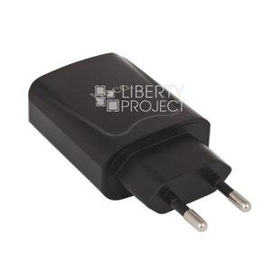 Универсальное сетевое зарядное устройство, адаптер 2хUSB, 2.1А (HOCO C52A) (черный) - Сетевой адаптер 220v - USB, ПрикуривательСетевые адаптеры 220v - USB, Прикуриватель<br>Одновременная зарядка двух устройств, функция быстрой зарядки, 2.1 А.