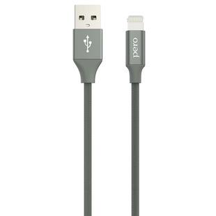 Кабель USB - Lightning для Apple iPhone, iPad (PERO DC-02) (серый) - КабелиUSB-, HDMI-кабели, переходники<br>Служит для зарядки и передачи данных между цифровыми устройствами.