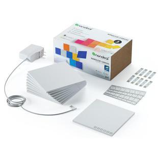 Комплект умных ламп Nanoleaf Canvas Smarter Kit (9 панелей) - ОсвещениеНастольные лампы и светильники<br>Nanoleaf Canvas Smarter Kit представляет собой комплект из 9 LED-ламп, которые соединяются между собой и устанавливаются на любую поверхность. Лампы позволят создать уникальное освещение в помещении, позволяя задать каждой плитке один из 16.7 млн. цветов. Модульное дополнение The Rhythm превратит музыку в светомузыку через световые панели. Подключите модуль The Rhythm к световым панелям - он будет реагировать на музыку всех жанров в реальном времени.