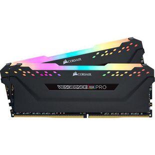 Corsair CMW16GX4M2C3466C16 - Память для компьютераМодули памяти<br>2 модуля памяти DDR4, объем модуля 8 ГБ, форм-фактор DIMM, 288-контактный, частота 3466 МГц, радиатор, CAS Latency (CL): 16.