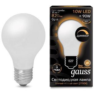 Лампа светодиодная gauss 102202110-D E27, A60, 10Вт, 2700К - Лампочка