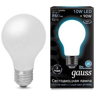 Лампа светодиодная gauss 102202210 E27, A60, 10Вт, 4100К - Лампочка
