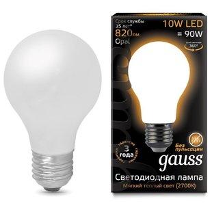 Лампа светодиодная gauss 102202110 E27, A60, 10Вт, 2700К - Лампочка