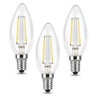 Упаковка светодиодных ламп 3 шт gauss 103801105T E14, C35, 5Вт, 2700К - Лампочка
