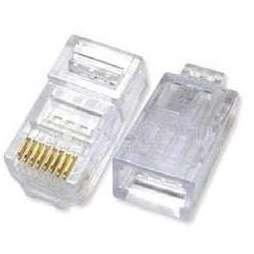 Разъём RJ-45 UTP для кабеля кат.5Е (ITK CS3-1C5EU) (прозрачный) - КабельСетевые аксессуары<br>Разъём RJ-45 UTP для кабеля кат.5Е, максимальный ток нагрузки 1.5А