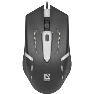 Defender Hit MB-601 USB Black - МышьМыши<br>Проводная оптическая мышь, USB, 3 кнопки + колесо, 800/1000/1200 dpi, 7 цветов подсветки.