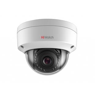 HiWatch DS-I102 6мм (белый) - Камера видеонаблюденияКамеры видеонаблюдения<br>Купольная IP-камера, матрица: 1/4 Progressive scan CMOS, объектив 6мм, дальность действия ИК-подсветки: до 30м.