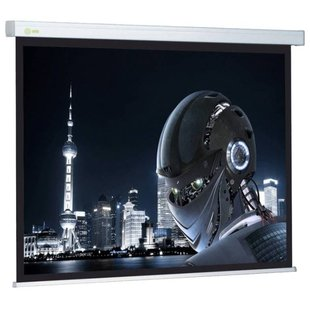 Рулонный матовый белый экран cactus Wallscreen CS-PSW-127x127