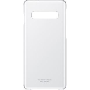Чехол-накладка для Samsung Galaxy S10 (EF-QG973CTEGRU) (прозрачный) - Чехол для телефонаЧехлы для мобильных телефонов<br>Чехол плотно облегает корпус телефона и гарантирует его надежную защиту от царапин и потертостей.