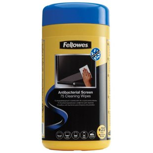 Fellowes Antibacterial Screen Cleaning Wipes влажные салфетки 100 шт.