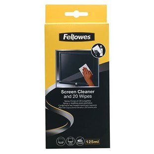 Набор Fellowes Screen Cleaner and Wipes чистящий спрей+сухие салфетки 20 шт.