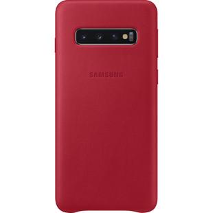 Чехол-накладка для Samsung Galaxy S10 (EF-VG973LREGRU) (красный) - Чехол для телефонаЧехлы для мобильных телефонов<br>Чехол плотно облегает корпус телефона и гарантирует его надежную защиту от царапин и потертостей.