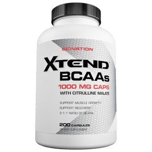 BCAA Scivation Xtend BCAAs (200 капсул)