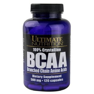BCAA Ultimate Nutrition BCAA 500mg (120 капсул)