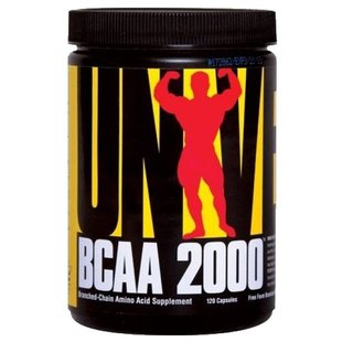BCAA Universal Nutrition BCAA 2000 (120 капсул)