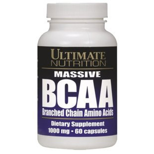 BCAA Ultimate Nutrition BCAA 1000mg (60 капсул)
