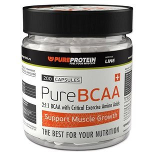 BCAA Pure Protein BCAA (200 капсул)